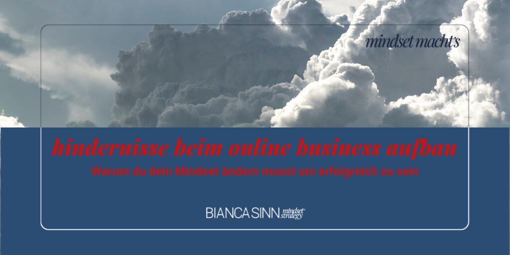 Hindernisse beim Aufbau eines Online Business