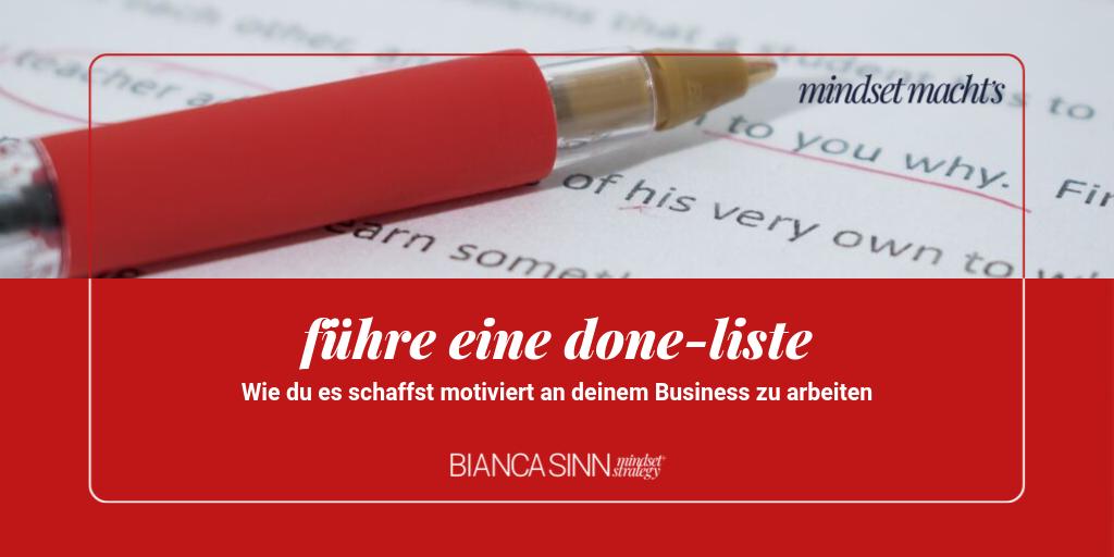 Führe eine Done-Liste